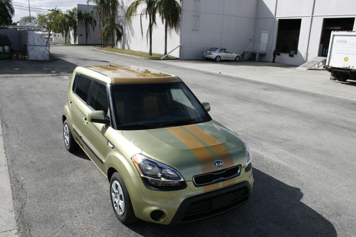 kia soul vinyl panoramic roof wrap vinyl rally stripes. Black Bedroom Furniture Sets. Home Design Ideas