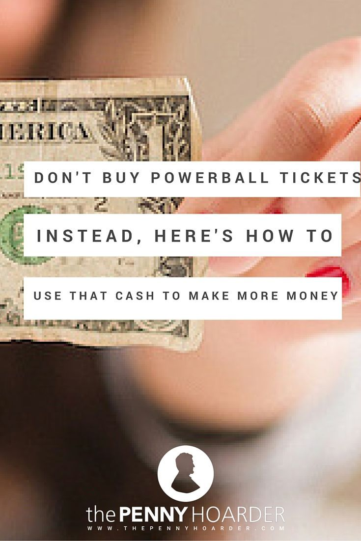 We know it's tempting, but the money you spend on buying powerball tickets is almost definitely a waste. Check out these smarter ways to use that cash you were going to spend on the lottery -- and guarantee you'll come out in the black. - The Penny Hoarder http://www.thepennyhoarder.com/winning-the-lottery-make-money-instead/