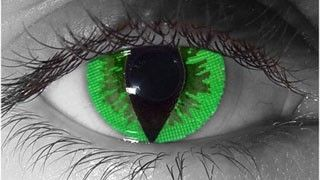 FDA Approved -Halloween Conctacts lens - Green Reptile Contacts - Specail Effect Cat Eye Theatrical Lens