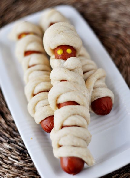 Mummy Dogs - Hot dogs wrapped with bread stick dough - easy and fun for kids of all ages!