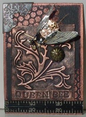 Queen Bee- Steampunk ATC