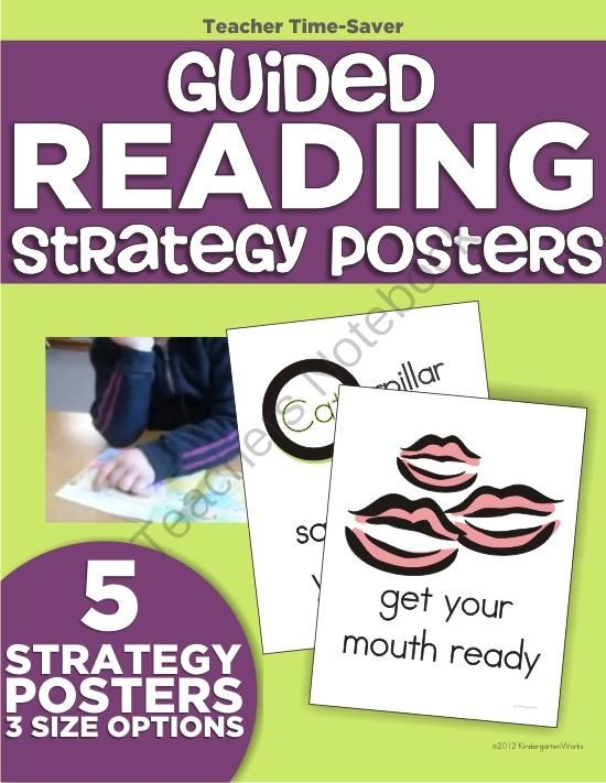 Guided Reading Strategy Posters for Kindergarten - Visual icon posters to reinforce the strategies taught in guided reading