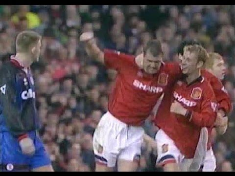 Man Utd 2 Middlesbrough 0 in Oct 1995 at Old Trafford. Gary Pallister scored against his old club on 43 minutes #Prem