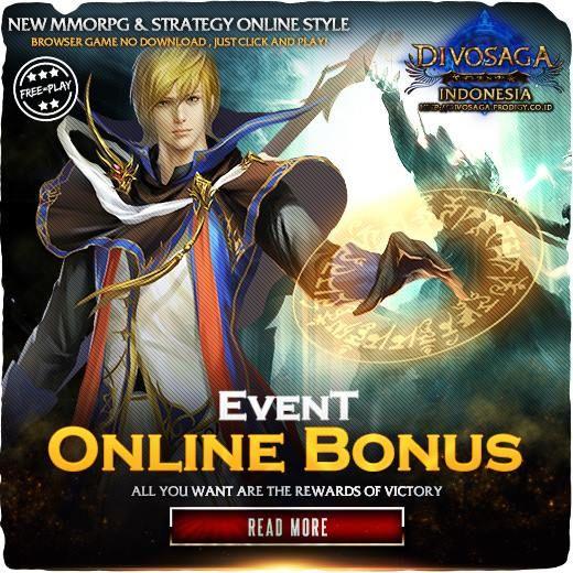 Divosaga, setiap kali player login. masuk ke game , akan langsung mendapat bonus harian.