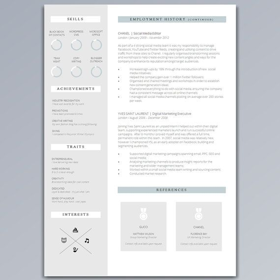 The 25+ best Cv guide ideas on Pinterest Creative cv template - professional cv template