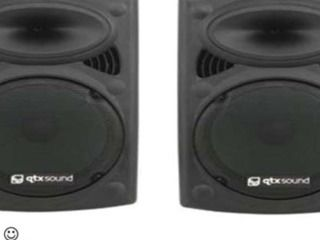 """PA System """"The Boss"""" $199.00  2 QTX Soud 15″ Speakers  400/800w Max power each  Play music all night through your Laptop or Ipod  Needs Mains Power  Includes a demo on how to work  Free delivery and set up with any Marquee Hire  Recommended for Party Music  Includes a high quality microphone + Speaker Stands"""