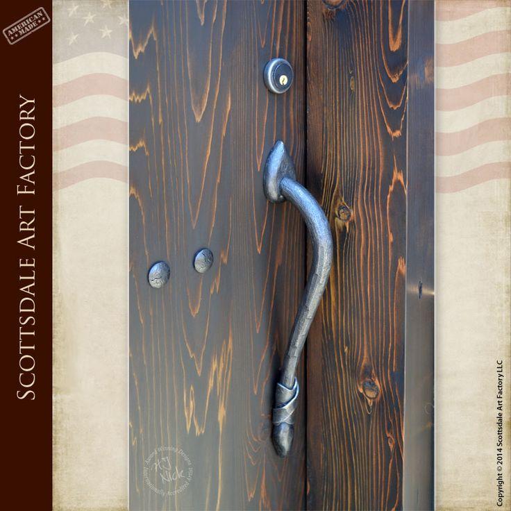 Wrought Iron Castle Door Pulls - - Iron door handles custom designed from old castle doors - handcrafted door handles from solid patina finished wrought ... & 11 best Hardware images on Pinterest | Door pulls Door handles ... Pezcame.Com