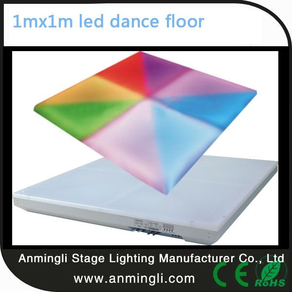RGB dance floor Voltage:AC90-240V  50-60Hz Power:60W Led:576 pcs 10mm RGB  (R:192  G:192  B:192) Braring Weight1800kg CertificateCE Working environment-10° - 35° Control:DMX,M/S,Auto,Sound-active Body colorWhite warrantyOne year Packing Size100*100*12cm Weight35KG