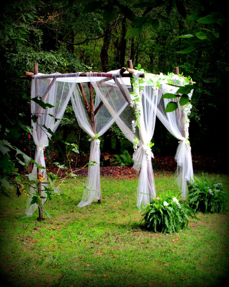 Arbors, Rustic And Tulle