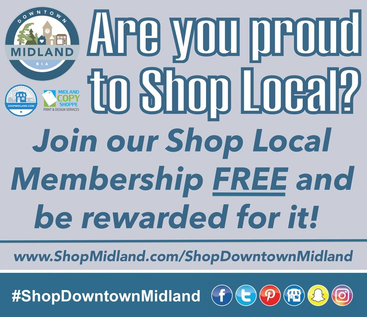 JOIN HERE: www.ShopMidland.com/ShopDowntownMidland  * Savings only apply to members *  #ShopDowntownMidland #DowntownMidlandON #ShopMidland