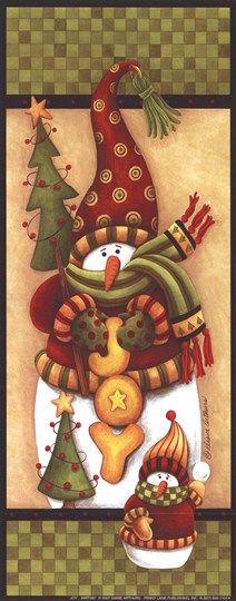 Boneco de Neve com Árvorezinhas e JOY