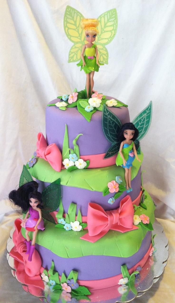 Tinkerbell Fondant Cake Design Perfectend for