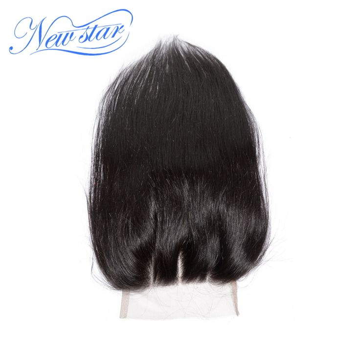 new star 3 part straight 100% virgin hair 5*5 top closure bleached knots, baby hair with PU around the perimeter,Free shipping