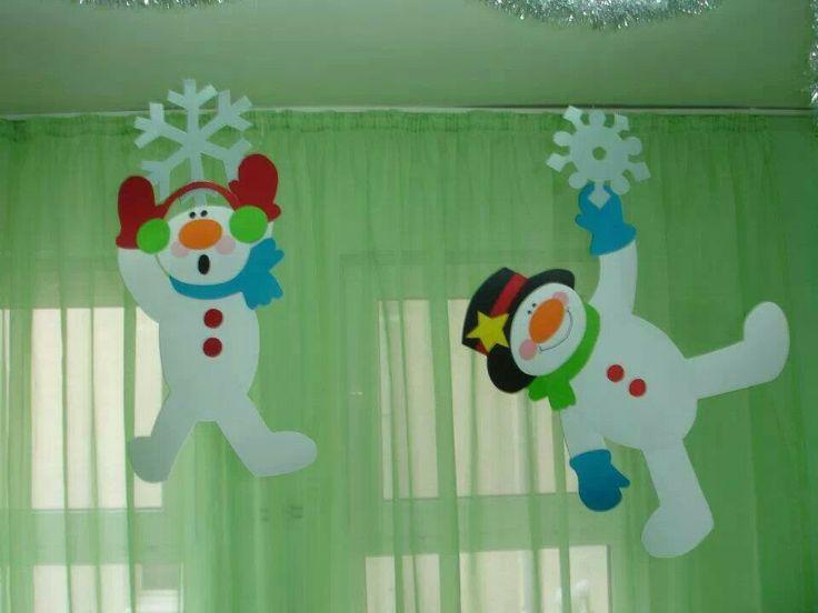 Muñeco d nieve para colgar