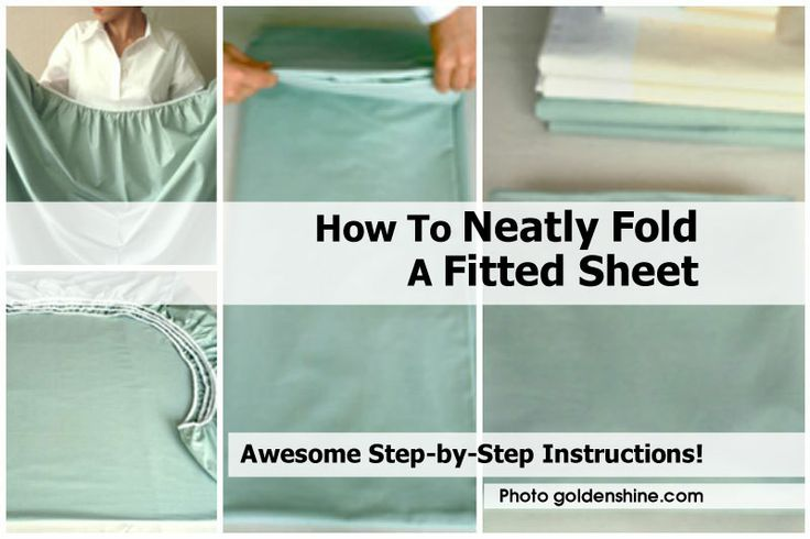 How To Neatly Fold A Fitted Sheet - http://www.hometipsworld.com/how-to-neatly-fold-a-fitted-sheet.html