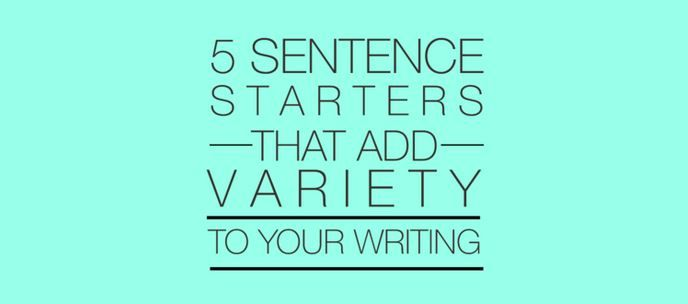 Creative writing sentences