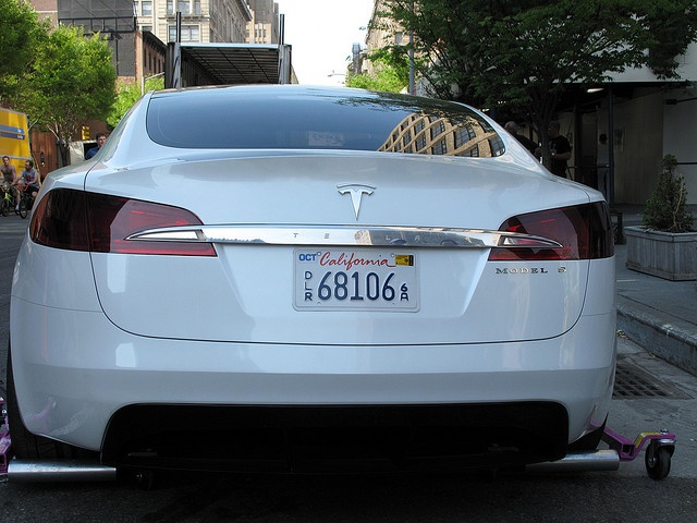 Tesla Electric Car rear