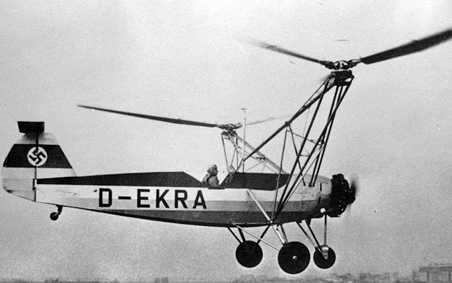 Hanna Reitsch | Hanna Reitsch flying the Fw 61, one of the first hellicopters, in 1938 ...
