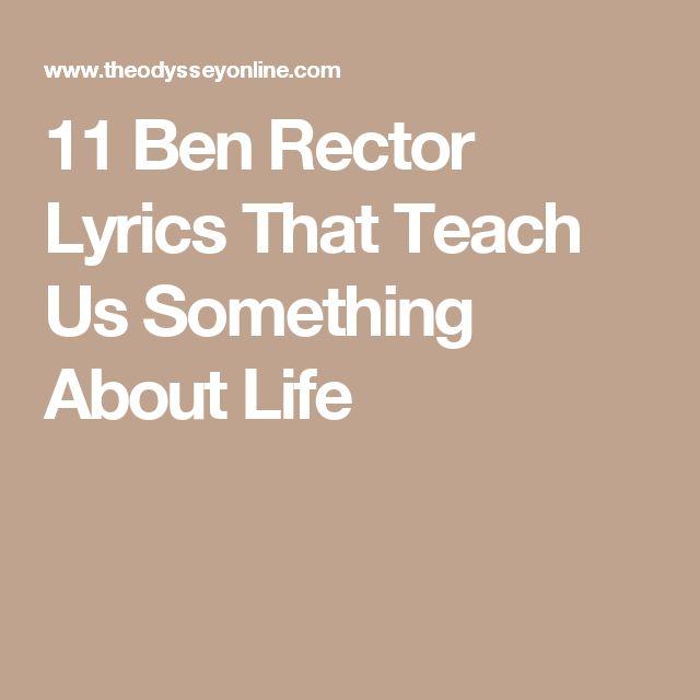 11 Ben Rector Lyrics That Teach Us Something About Life