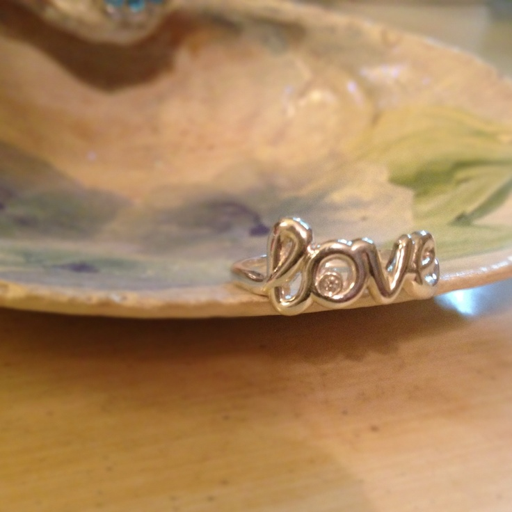 Love ring, sterling silver with a diamond $495 at David Arlen Jewelers