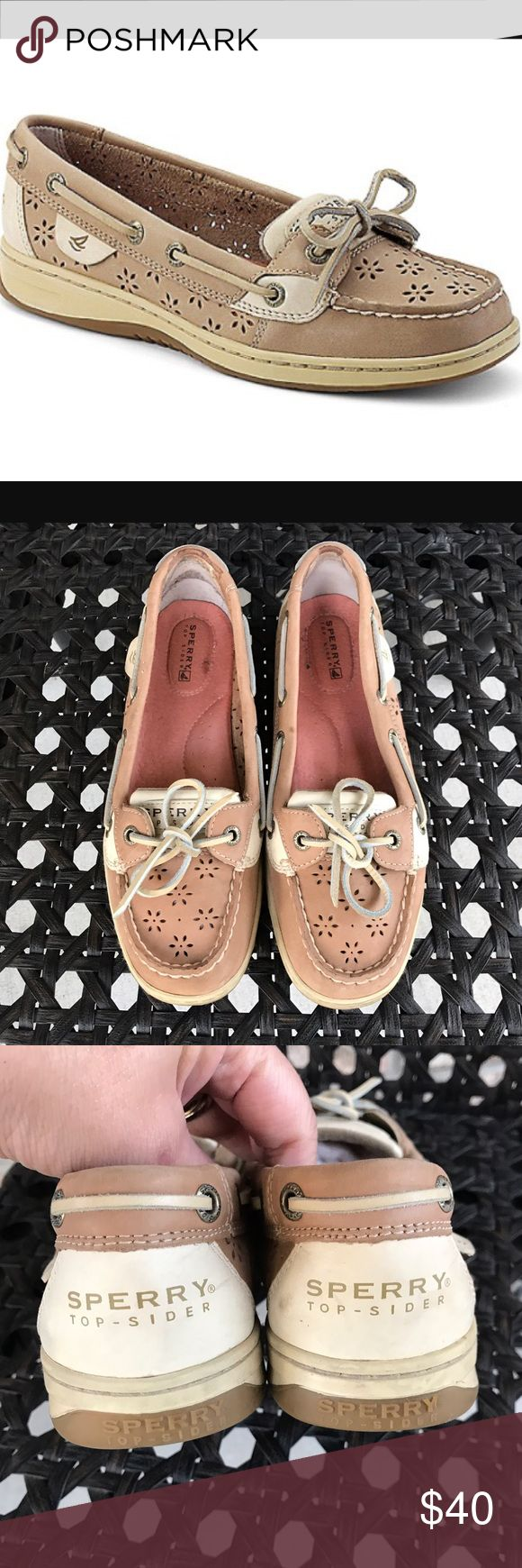Sperry Top Sider Angelfish Flower Size 7.5 Sperry Top-Siders. Size 7.5, excellent condition! Neutral color pairs well with everything! No trades, thanks! Sperry Top-Sider Shoes