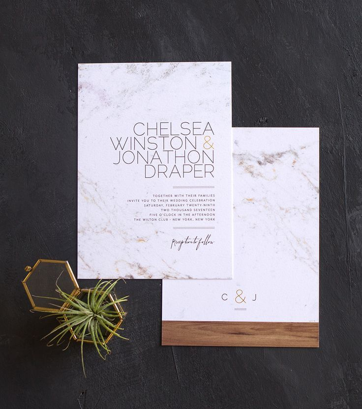 what does it mean when wedding invitation says black tie invited%0A The marble and wood trend is so hot right now  Love how this wedding invite