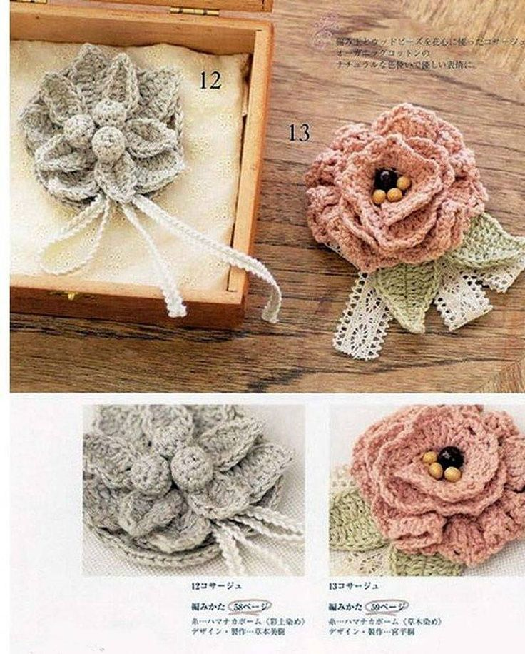 Crochetpedia: 2D Crochet Flowers Free Patterns - Diagrams for a number patterns from different sources #Crochet #Patterns