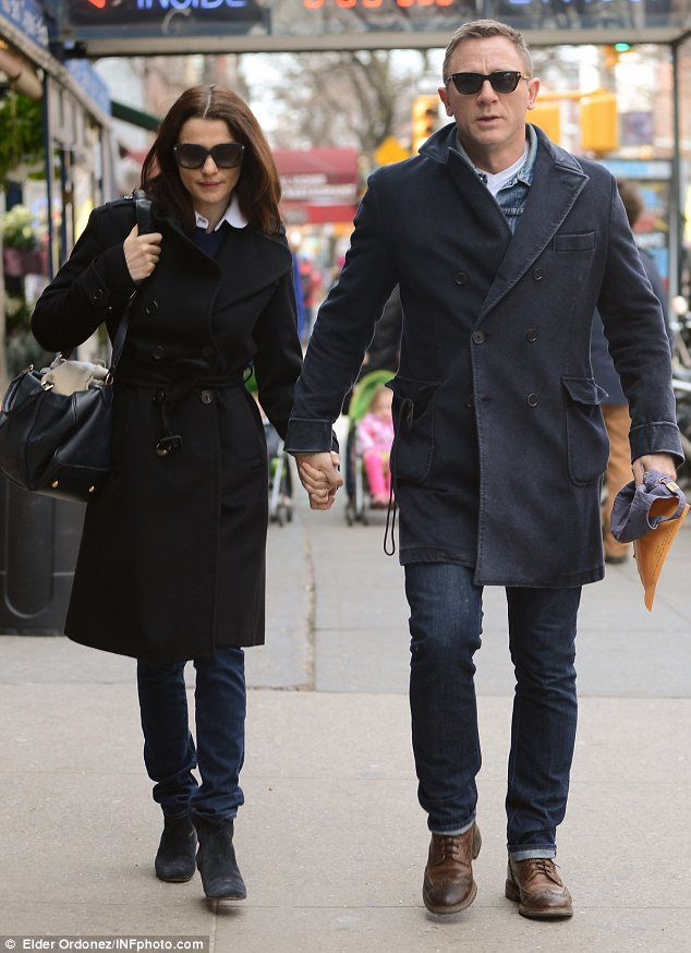 Lunch date: Daniel Craig and Rachel Weisz were seen heading out to lunch in New York on Friday