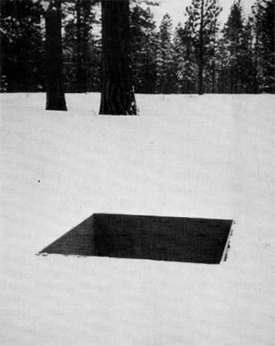 MICHAEL HEIZER, Two-Stage Liner Buried in Earth and Snow, 1967