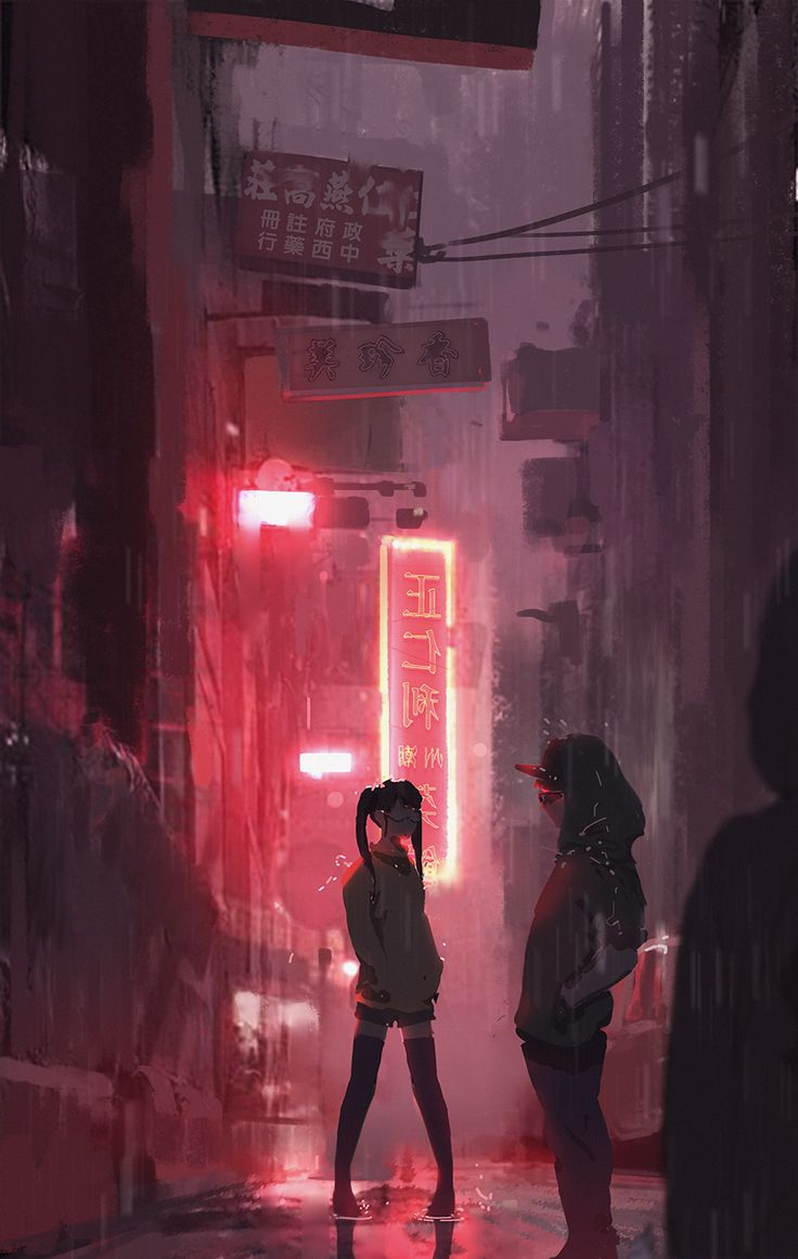 Ciudad cyberpunk   rosa