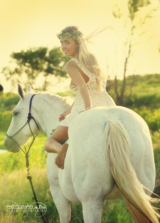 Horse Girl flowers fairy tale photos PHOTOGRAPHY by Dixie BLOG