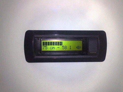 Display del medidor de nivel de agua.