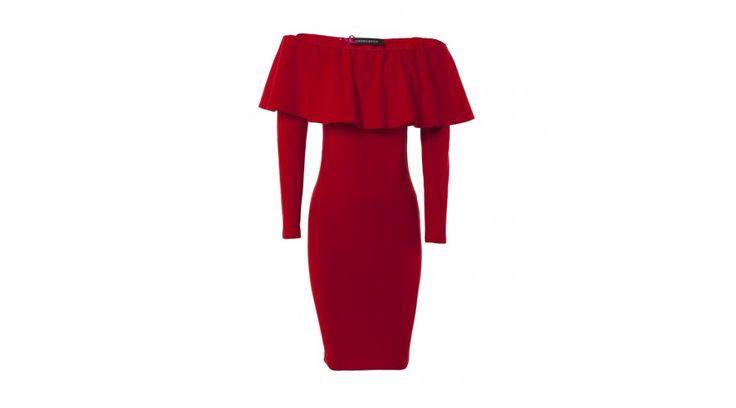 Das rote Minikleid ist die passende Wahl für Damen, die Eleganz und Exklusivität gleichermaßen schätzen. Der Off-Shoulder-Schnitt hebt ihre Schultern günstig hervor, und der figurbetonte Rock folgt treu ihren Kurven. Dieses Kleid kann getrost an