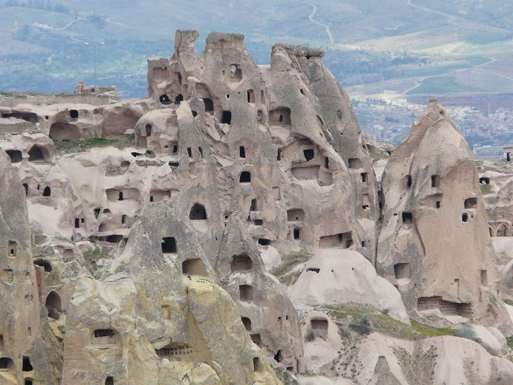 Very cool stuff ... Cappadocia Turkey ... ancient cave dwellings, that may be still be used. When I was deployed to Turkey 20 years ago, the helicopter pilots would fly over these as part of the scenic route from Incirlik to Silopi. Wanna go back!: Cappadocia Caves, Cave Dwellings Turkey, Uchisar Ancient, Google Search, Cappadocia Turkey, Cave Houses 1 Jpg, Cappadocia Cave Houses Jpg