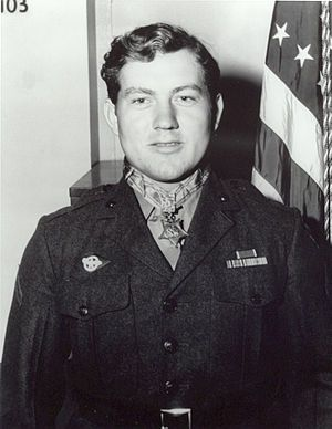 Jack Lucas, Medal of Honor recipient for his heroic actions during Battle of Iwo Jima.