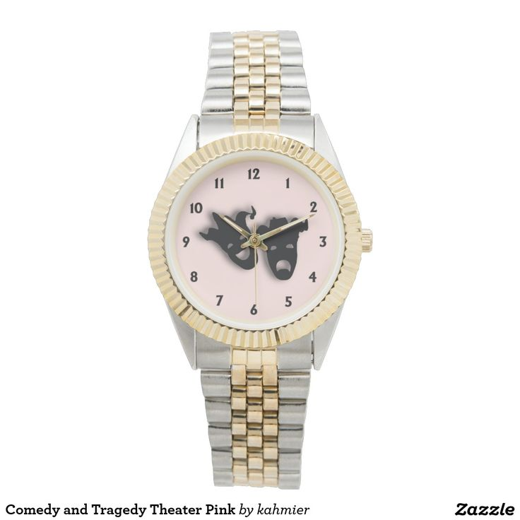 Comedy and Tragedy Theater Pink Watches 20% off everything at Zazzle  www.leatherwooddesign.com