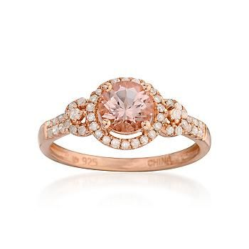 This Morganite and Diamond Ring has the lovely, graceful appeal of a look that combines romance and style. >>Click this Rose Gold ring to find more great Rose Gold jewelry from Ross-Simons.: 85Ct Morganite, 18Kt Rose, Diamond Rings, 25Ct T W, Diamonds Rings, Beautiful Rings, 85 Carat, Carat Morganite, Rose Gold Rings