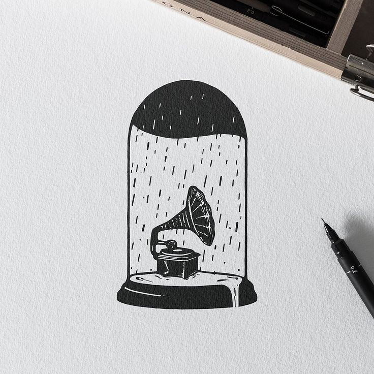 Sad Song. #illustration #draw #penandink #inkwork #tattoo #gramophone