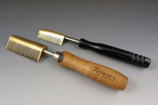 "Hot combs, also known as ""pressing combs,"" heated on stoves and used to temporarily straighten and smooth black hair."