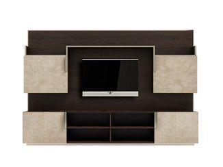 Parete attrezzata in legno massello con porta tv ELITE - Capital Collection by Atmosphera