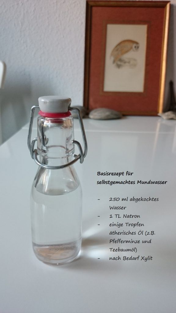 Rezept für selbstgemachtes Mundwasser. #zerowaste