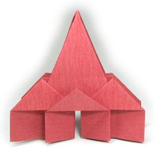 How to make a new origami church (http://www.origami-make.org/origami-church-new.php)
