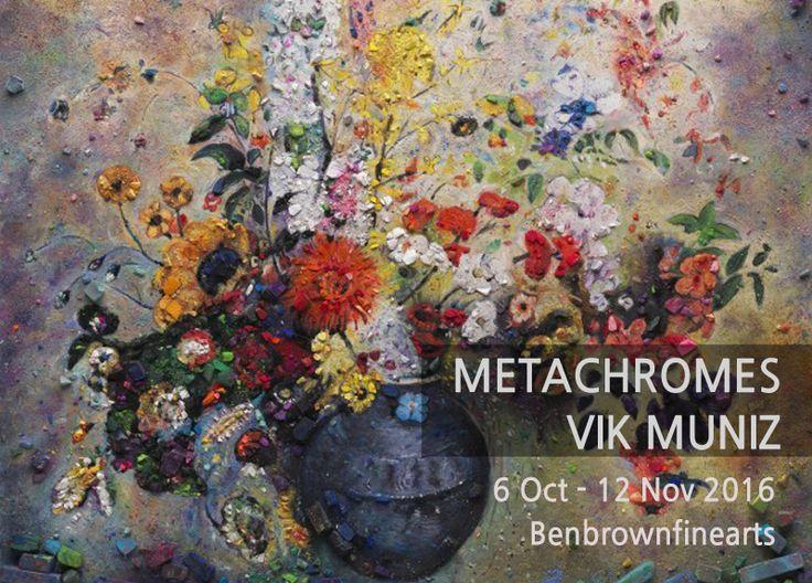 Metachrome (Flowers, after Odilon Redon I), 2016 Archival pigment print 128.3 x 101.6 cm; (50 1/2 x 40 in.) Edition of 6 + 4 AP  METACHROMES VIK MUNIZ展 2016.10.06 -2016.11.12 #관람시간 11:00am-06:00pm 월-금 10:30am-02:30pm토