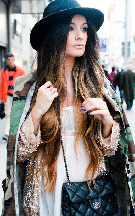 Zara sequined jacket, Camden Town camo jacket, Zara blouse, Chanel purse