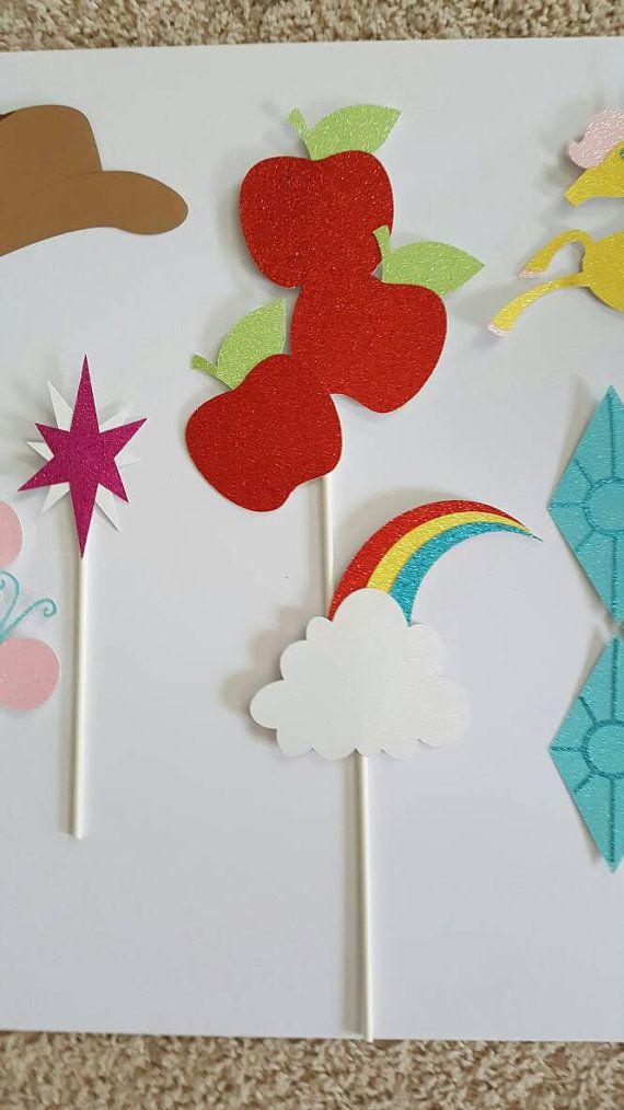 Pony inspirado brillantes foto Booth Props por CaptivatingCreation3