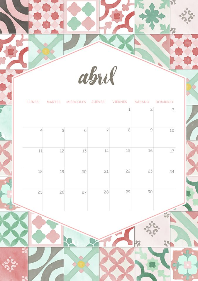 milowcostblog: calendario abril: imprimible y fondo