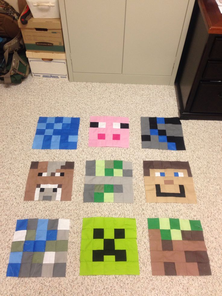 Looking for quilting project inspiration? Check out Minecraft Quilt :) by member Mrs Hesel.
