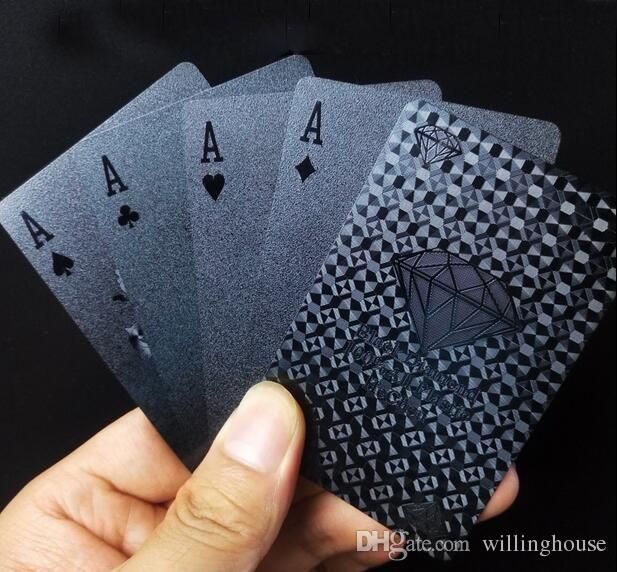2017 Luxury Decks Of Gorgeous Black Diamonds Playing Cards Geometric Pattern Waterproof Full Poker Table Games Table Cards Free Card Games Card Games Online From Willinghouse, $6.04| Dhgate.Com