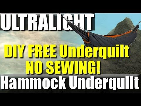 FREE DIY Ultralight Hammock Underquilt - No sewing required! - YouTube