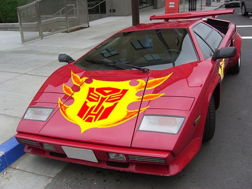 Autobot Sideswipe Lamborghini Countach (and yes, this car could convert my allegiance from Decepticon to Autobot) =)